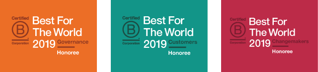 2019 Best for the World - Governance, Customers, & Changemakers